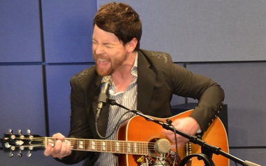 david cook in studio 385 Street Date: David Cook Performs LIVE, Playing Selections From New Album This Loud Morning
