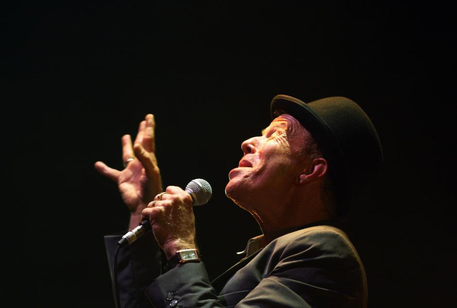 US singer Tom Waits, 58, performs during