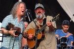 Tim Carbone of Railroad Earth and Larry Keel -The Rex Jam - July 21, 2012 - All Good Festival